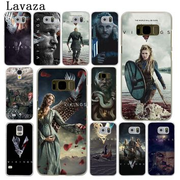 Lavaza Ragnar Lothbrok Vikings Hard Phone Case for Samsung Galaxy S6 S7 Edge S8 S9 Plus S3 S4 S5 Cover Shell