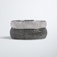 Rhinestone Sparkle Bangle Set