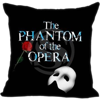 Musical The Phantom Of The Opera Pillowcase   (one sides)Zippered Pillow Cover