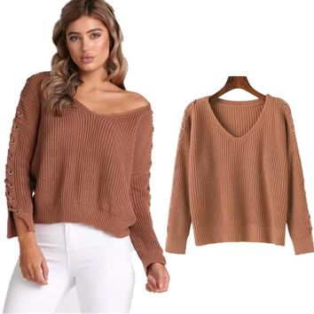 Winter V-neck Sweater [31067406362]