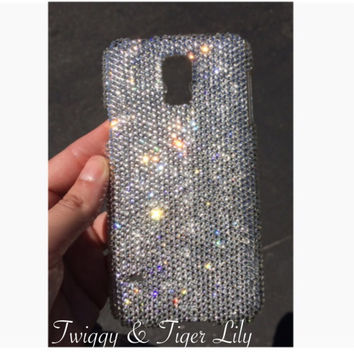 Samsung Galaxy S5 OR iPhone 5/5s Case Made With Swarovski Elements Crystals in SMALL ss9 Crystals
