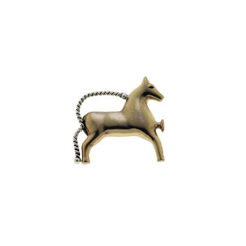 Barnes Classical Bronze Sterling Silver Horse Pin