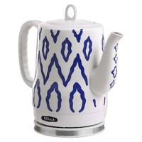 Bella 1.2L Electric Ceramic Kettle, Blue Aztec