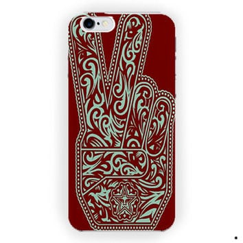 Obey Peace Sign Design Art Custom For iPhone 6 / 6 Plus Case