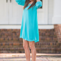 Layered Love Dress, Aqua
