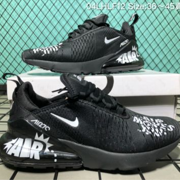 auguu Nike Air Max 270 MOVES Breathable Running Shoes Black