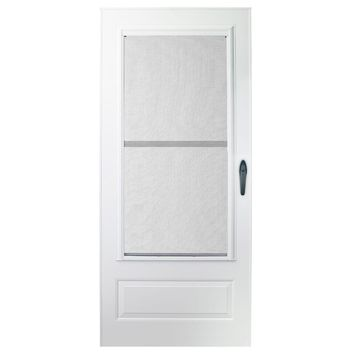 EMCO 36 in. x 80 in. 100 Series Plus White Self-Storing Storm Door-E1TT36WH - The Home Depot