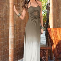Ombre detail maxi dress