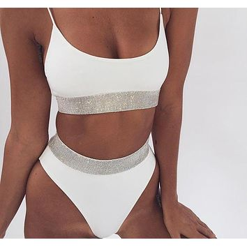 Crystal Lined Two-Piece Bikini