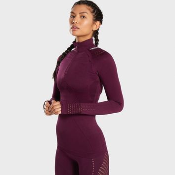 Gymshark Flawless Zip Up Jacket - Ruby