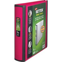 Staples Better 1.5-Inch D 3-Ring View Binder, Pink (13569-CC) | Staples