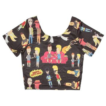 BEAVIS AND BUTTHEAD CROP TOP