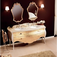 "GM Luxury Tristan 69"" Master Bathroom Vanity Decorated Cabinet Set Double Sink"