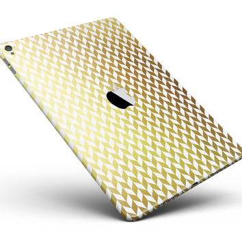 """The Golden Herringbone Pattern Full Body Skin for the iPad Pro (12.9"""" or 9.7"""" available)"""