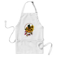 Autumn Basket Adult Apron