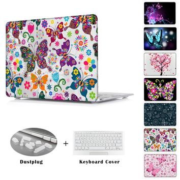 Colorful butterfly love printed Case for MacBook air 11 12 Air 13.3 Pro 13 15 Retina A1278 A1502 A1398 A1465 A1466 Cover Sleeve