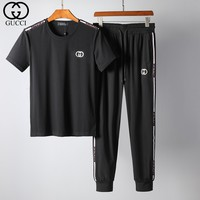 Boys & Men Gucci Top Sweater Pullover Pants Trousers Set Two-Piece Sportswear
