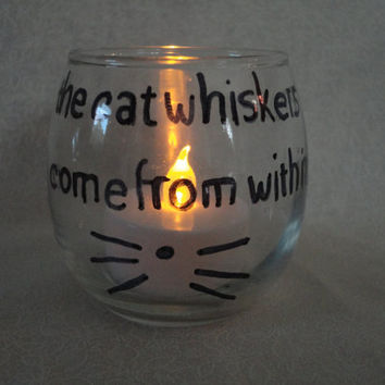 "Dan And Phil Inspired ""The Cat Whiskers Come From Within"" Candle Holder With LED Candle"