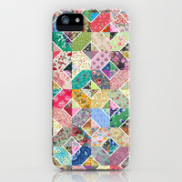 Betty's Diamond Quilt iPhone Case by Rachel Caldwell | Society6