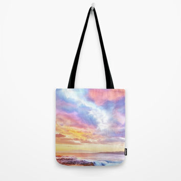 Calm before a storm Tote Bag by exobiology