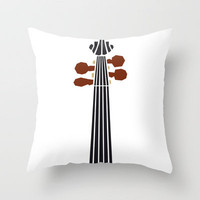 Violin Throw Pillow by Lucie | Society6