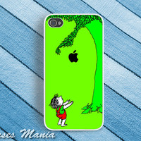 iPhone 5 - iphone 4 case - iphone 4s case - plastic or silicone rubber - Giving tree case