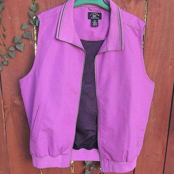 Womens Sleeveless Vest, Rain Vest, Pink Sleeveless Windbreaker, Cutter and Buck Vest, Size Womens Medium Vest, Climaguard repellent vest