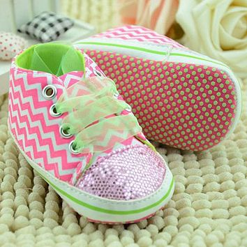 Baby Shoes Infant Toddler Shoes For Newborn Girl Kids Classic Sports Sneakers Soft Bottom Anti-slip T-tied Shoes Sneakers