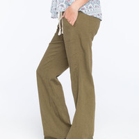 Roxy Oceanside Womens Beach Pants Olive  In Sizes