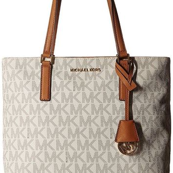 DCCK3SY MICHAEL Michael Kors Womens Morgan Medium Tote PVC Logo