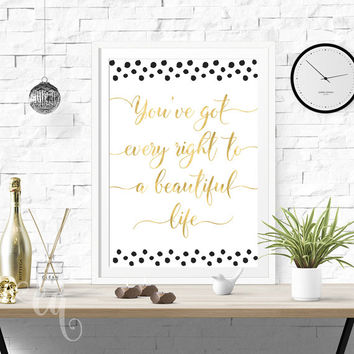 Wall art decor Selena Gomez quote, typography giclée print