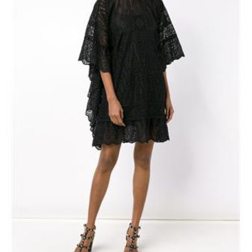 VALENTINO   Lace Cape Dress   brownsfashion.com   The Finest Edit of Luxury Fashion   Clothes, Shoes, Bags and Accessories for Men & Women