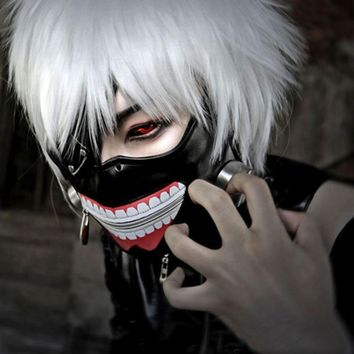 Tokyo Ghoul 2 Kaneki Ken Mask Adjustable Zipper Masks PU Leather Cool Mask Blinder Anime Cosplay