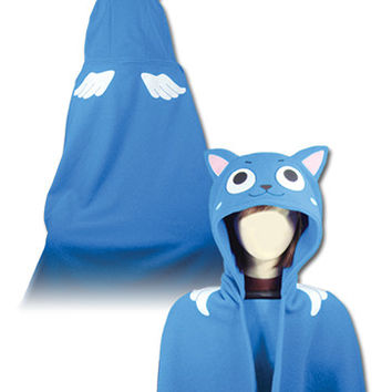 Fairy Tail Happy Hoodie Blanket