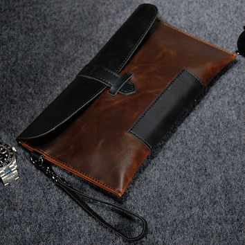 retro leather wallet bag gift