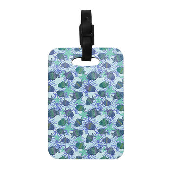"Julia Grifol ""My Colorful Fishes"" Blue Teal Decorative Luggage Tag"