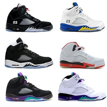 air jordan grape black retro 5s basketball shoes fire red laney white retro shoes 5 v oreo og silver with box
