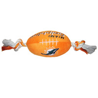Miami Dolphins Doggie Plush Football Toy