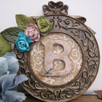 Antique Vintage Framed Letters Shabby Chic Nursery Home Wedding Decor