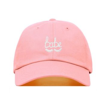 Babe Lashes Dad Hat