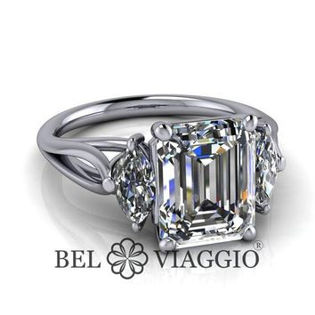 Best Emerald Cut Three Stone Ring Products on Wanelo 7156f283dcf8