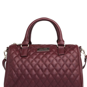 Red Quilted Bucket Bag