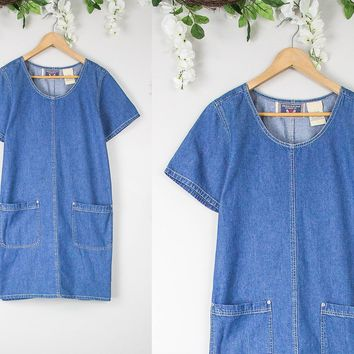 Vintage Denim Shift Dress