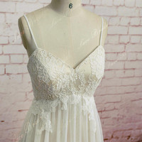 Sweetheart Wedding Gown, Outside Bridal Gown, Chiffon Wedding Dress, A-line Wedding Dress
