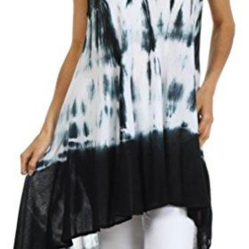 Sakkas Star Dancer Caftan Tank Hi Lo Dress  Cover Up