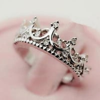 Princess Crystals Crown Ring + Gift Box