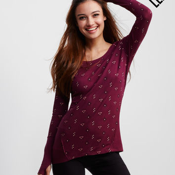 LLD Long Sleeve Geo Print Thermal Shirt
