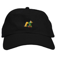 King Sipping Kermit Dad Hat