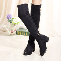 Plain Overknee Knight Boots ,Cheap in Wendybox.com