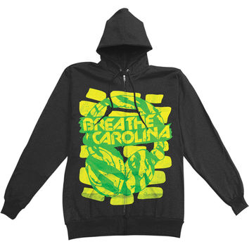 Breathe Carolina Men's  Zippered Hooded Sweatshirt Black Rockabilia